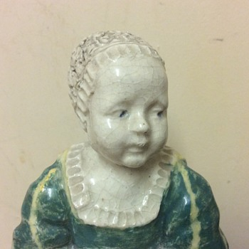 19c Pottery Figure James II England (as child) image taken from Jacobite painting Turin gallery
