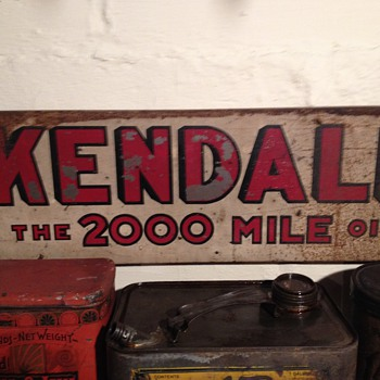 Kendall Oil Can Display Rack