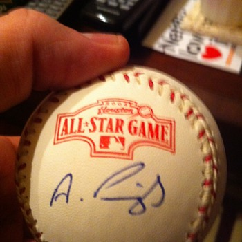 autographed all-star baseball - Baseball