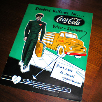 1940s Coca-Cola Salesman Uniform Brochure and Price Guide - Coca-Cola