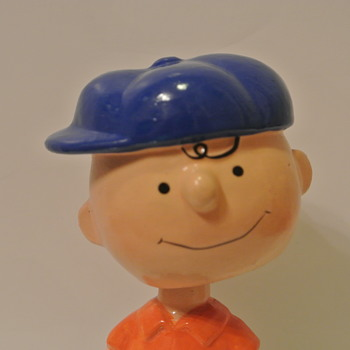 Paper-Mache Charlie Brown Bobble Head aka Blockhead - Toys