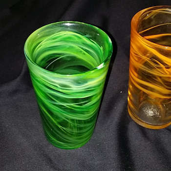 Art Glass tumblers - Glassware