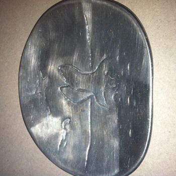 Silver/Pewter seagull plate