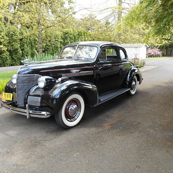 Our 1939 Chevy business coupe.