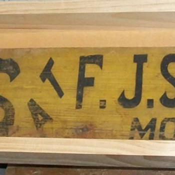 F.J. Schneider's harness sign