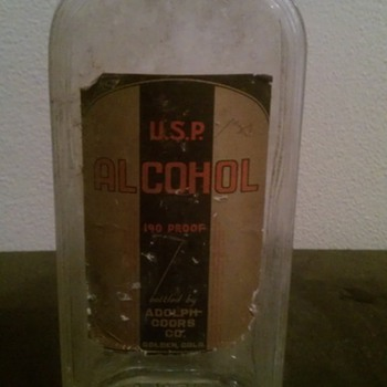 U.S.P. Alcohol 190 Proof bottled by Adolph Coors And Company Golden,Co