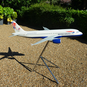 1/24 Scale British Airways Airbus A320 Model by Space Models Team GB Sydney 2000 Olympic Games Livery - Advertising
