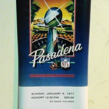 Super Bowl XI Ticket Stub Replica Poster