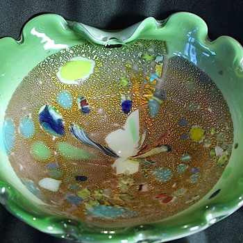 Murano Multi-Color Dish - Art Glass