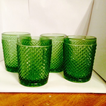 Green Depression Glasses!! - Glassware