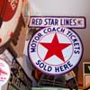 RED STAR MOTOR COACH PORCELAIN SIGN