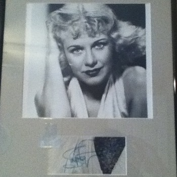 Signed Ginger Rogers Still