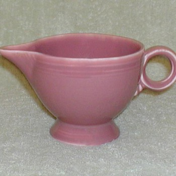 Fiesta Ware Creamer - Rose - China and Dinnerware