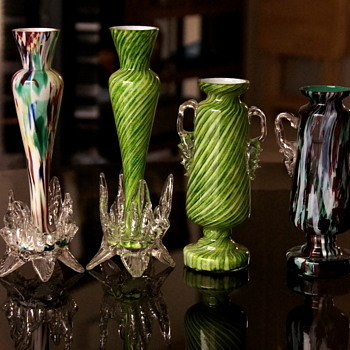 A Set of Welz Shapes and Décors - A Simplified Example of a Path Across Their Production!! - Art Glass
