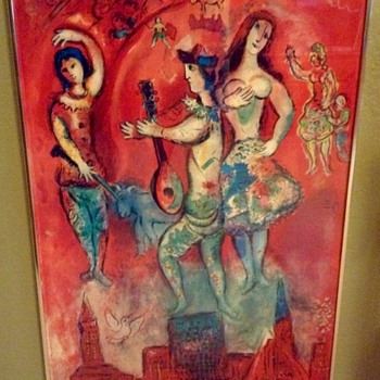 "1966 Fine Art Lithographic Poster ""Carmen"" by Marc Chagall"