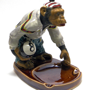 Chimpanzee w/8-Ball Ashtray