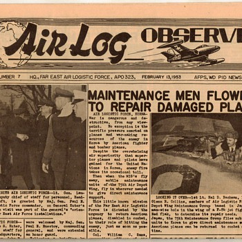 "1953 - USAF ""Air Log Observer"" Newspaper"