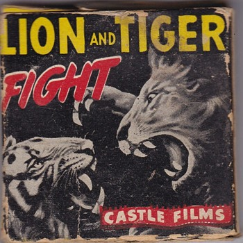 Castle Films 8mm Lion and Tiger Fight - Movies