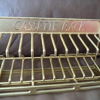 Cassette Tape Rack / Vintage - Records