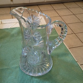 Heavy crystal pitcher