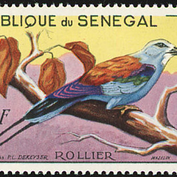 Birds on Stamps i like. From Senegal 1960
