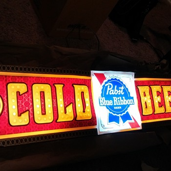 Vintage PBR-hung in Grandpa's Bar - Signs