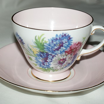 Royal Crafton Bone China:  Cornflowers