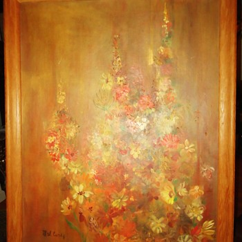 "Oil by Mildred ""Mel"" Cardy 1963 from Thrift Store $7.50 - Visual Art"