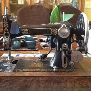 Antique National E Sewing Machine