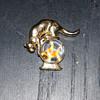 Crown Trifari Cat Over Fish Bowl Pin
