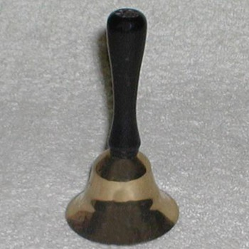 Small Brass Bell with wood handle