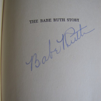 Hardback Edition of the BABE RUTH STORY Signed by Babe Ruth