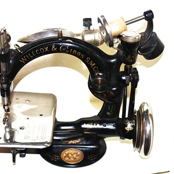 Antique Willcox & Gibbs Black & Gold Sewing Machine