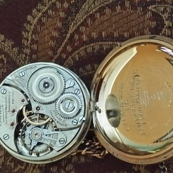 Illinois pocket watch 19J, Case#951377, Movement#4780601