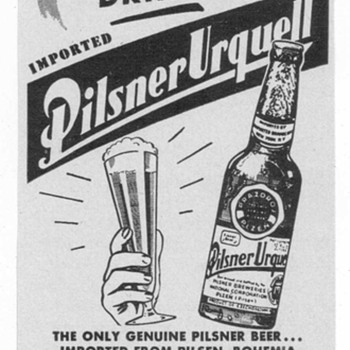 1950 Pilsner Urquell Advertisement