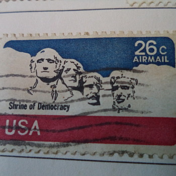 US vintage postage stamp shrine of democracy 26 cents