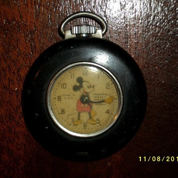 1937-39 Mickey Mouse Lapel Watch - Pocket Watches