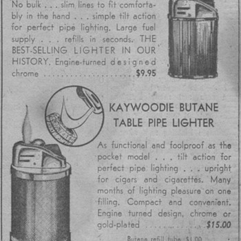 1963 - Kaywoodie Pipe Lighters Advertisement