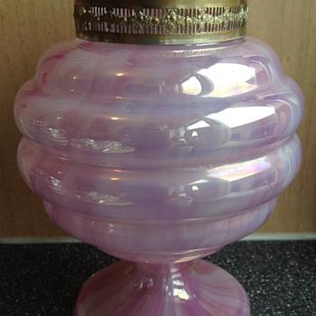 Art Deco large pink posy vase - Art Glass