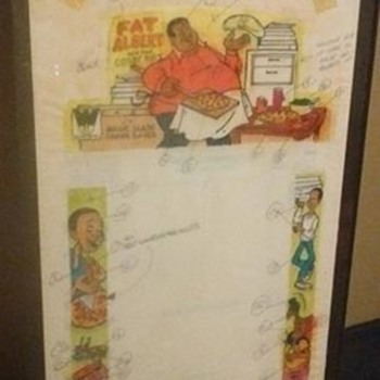 Original Whitman company artwork for the Fat Albert Magic slate boards... !!!!!! - Toys