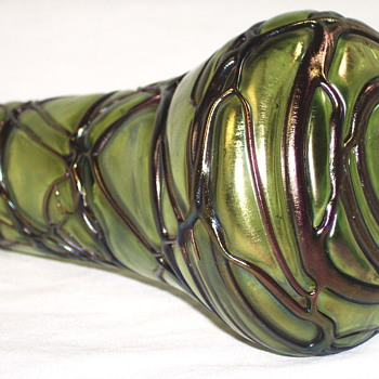 Art Nouveau Loetz or Pallme-Koenig Vine threaded Vase C1895  - Art Glass