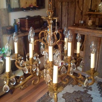 SOLID BRASS CHANDELIER!