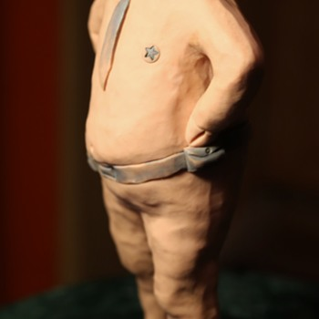 Hilarious Resin Sculpture of a Pig in Uniform