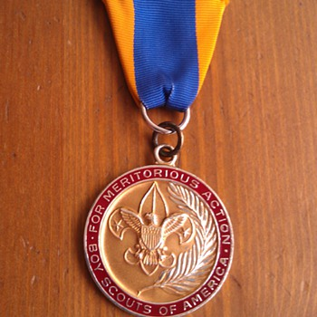Rare Meritorious Action BSA Sterling Medal