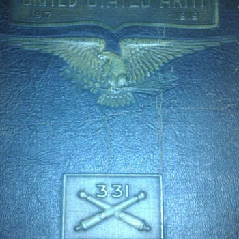 331st field artillery book and poem - Military and Wartime