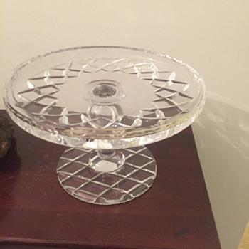 Unknown maker cake stand - Glassware