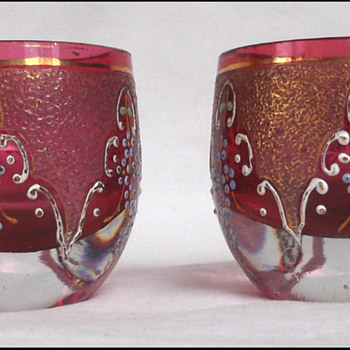 Moser Ruby Glass Salts  - Art Glass