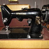 Singer Spartan Vintage Black Sewing Machine with Carry Case. 192 K. Model RFJ9-8