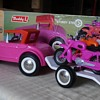"""Buddy L Big """"H"""" Race Team Toy car and motorcycles"""