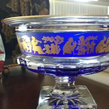Val Saint Lambert Bowl Borodine Danse De Flore Clear 93185